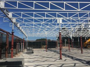 Tragaluz prefabricados edificios con estructura de acero
