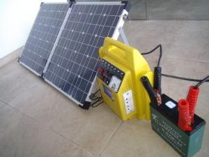 Sistema portatile solare (ZZ-500-PS) con il pannello di 80W Soalr
