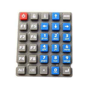 Teclado de borracha do botão do painel do botão de silicone 4X4