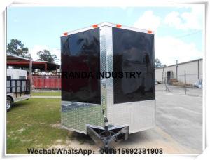 Chiosco mobile dei furgoni del camion di cucina di vendita a forma di V dell'alimento dalla Cina Qingdao