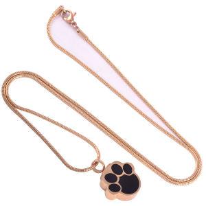 Juwelen van de Halsband van de Urn van de Tegenhanger van de Crematie van de Hond van de Kat van het Huisdier van de Vorm van de poot de Herdenkings