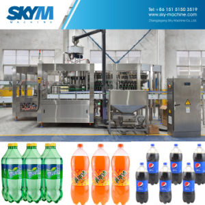工場供給の自動天然水びん詰めにする機械