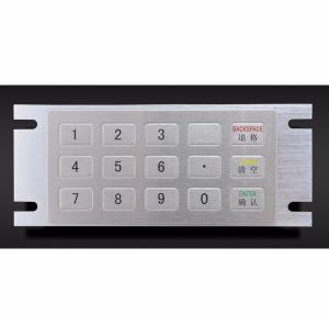 Het industriële Toetsenbord van het Metaal van 15 Sleutels Industriële Ik07 IP65 Mini