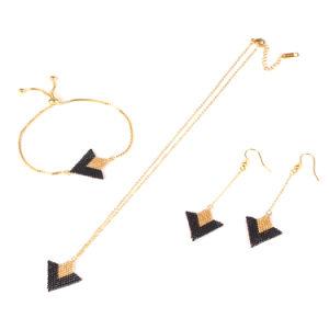 Accessoires de Mode Perles Hand-Woven Bracelet & necklace & earrings bijoux Set