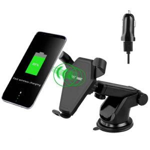 2018 Лучшие товары Быстрая беспроводная установка на автомобильное зарядное устройство/держатель для мобильных телефонов и iPhone 8/X 7,5 с тяжести индуктивные функции