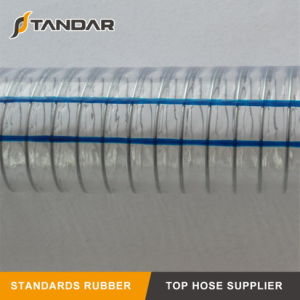 Tubo flessibile di rinforzo di superficie liscio del filo di acciaio del PVC della radura