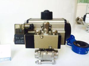 Válvula de bola de neumático completo con caja de interruptores de límite de la electroválvula y regulador del filtro de aire