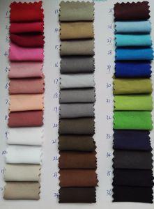 Pele de pêssego Sateen Poly Efeito de lavagem traseira Polyester M/F tecido mais grosso