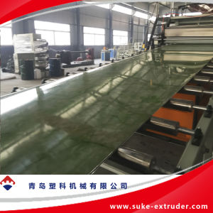 PE/PP/PVC 플라스틱 주형 장 또는 널 밀어남 생산 라인