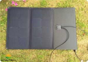 ETFE Sunpower laminado exterior solar plegable 100W 12V Cargador para dispositivos con conector Mc4 (FSS-100)