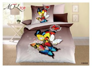 África do Sul Banheira vendendo barato preço Luxury Design 3D Butterrfly roupa de cama e edredão Conjunto da Tampa
