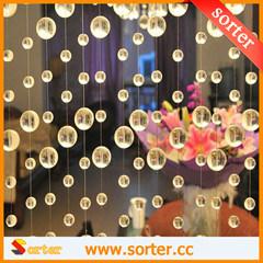Cordão de Cristal Redonda decorativas transparente cortina para quarto Divisores de decoração