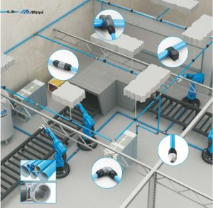 De aluminium Geanodiseerde Aanslutingen van de Buis van de Lucht