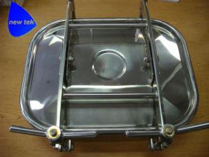 Manway sanitarias Tanque rectangular de acero inoxidable SS304 / EPDM