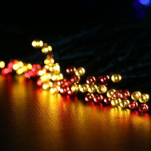 Bunte LED Weihnachtsgummizeichenkette-Solarlicht der Qualitäts-