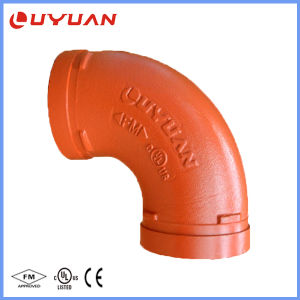UL enumerado FM codo ranurado de hierro dúctil para el Proyecto Sistema de fontanería