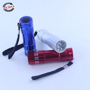 Nuevo estilo de alta calidad Mini 9 LED Linterna de aluminio