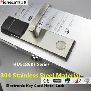 Edelstahl 304 elektronischer intelligenter HF-Karten-Hotel-Tür-Verschluss (HD5186)