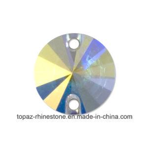 Glanzende het Bergkristal van Swaro naait op het Bergkristal van Rivoli van de Steen van het Glas (sW-Rivoli 12mm kristal ab)