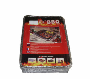 L'environnement Barbecue jetable avec du charbon de bois synthétique raffiné