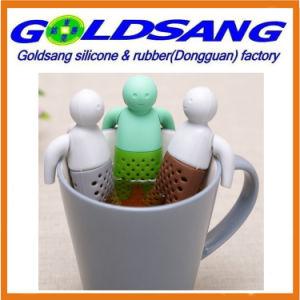 Популярные продажа ленивой г-силикон чай со съемными Infuser руки