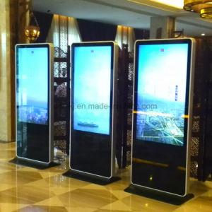 Dedi 49inch Innen-LCD Digital Signage mit dem Fußboden, der Aufbauen-in WiFi bekanntmacht Spieler steht