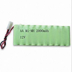 태양 빛을%s Ni MH 재충전 전지 팩 AA2000mAh 12V