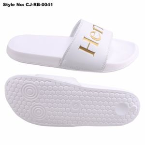 La Chine Logo personnalisé plage unisexe pu glisser Slipper