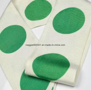 Vert frais d impression Big Wave spot dark coton rayée Sens vertical Foulard  en Soie d871dcac201