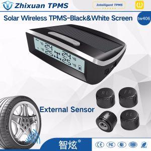 無線車TPMSのタイヤ空気圧の監視システム+ 4台の外部センサー太陽USBの料金