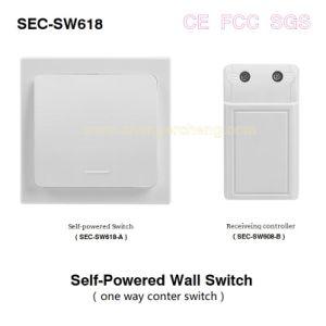 Accès sans fil auto-alimenté Wall-Switch appareils électroménagers de contrôle (Sec-SW618)