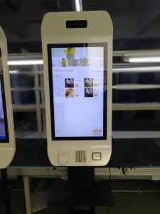 접촉 스크린 32  열 인쇄공과 카드 판독기와 가진 카드 셀프서비스 지불 간이 건축물