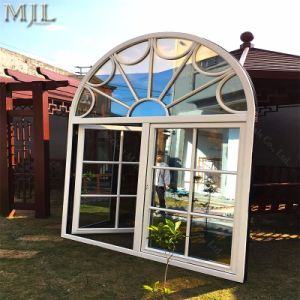 Gitter-hölzernes Aluminiumflügelfenster-Glasfenster mit dem Doppeltes Isolierglasieren