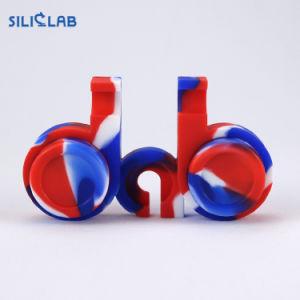 Contenitore personalizzato di Bho dell'estratto dell'olio della cera del silicone di marchio 2PCS 5ml
