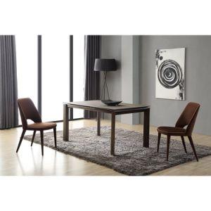 La moderna mesa de comedor Muebles de metal
