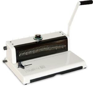 A4サイズワイヤー3:1の鋼鉄小型らせんとじ機械(T598)