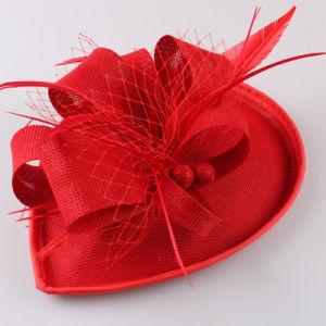 Venda por grosso Parte Organza Vermelho Hat