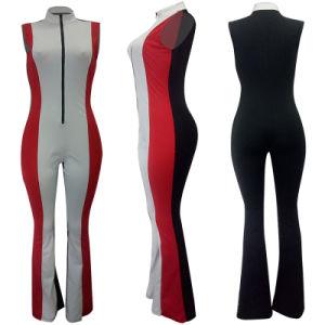 precio de fábrica al por mayor empuje para iniciar Colorblock Jumpsuit
