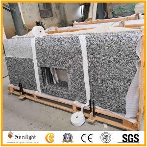 La pierre naturelle, de granit blanc poli blanc Comptoir d'onde/vanité Haut de page