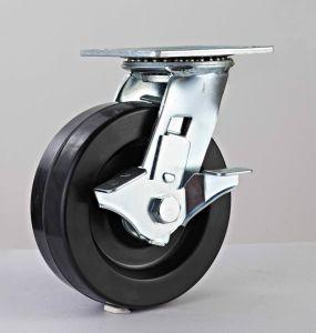 6X2  중간 페놀 회전대 강철 피마자 바퀴