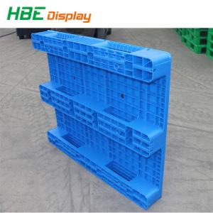 Recycleer de Euro Standaard Plastic Pallets Met platte kop van de Grootte met 9 Benen