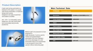 セリウムの証明書が付いている携帯用獣医LED医学ランプ