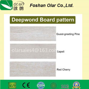 Poids léger du grain du bois parement panneau de fibre de ciment à lattes