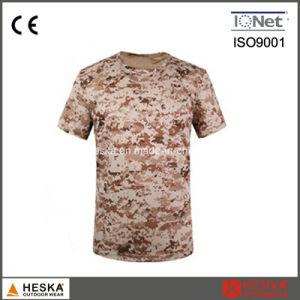 군 육군 색깔 면 Mens 위장 t-셔츠
