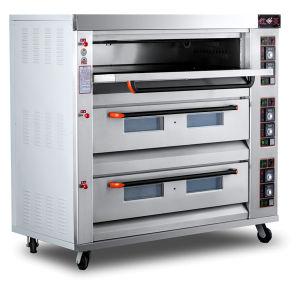 forno di cottura del gas del pane dei cassetti 3deck 9 per il forno