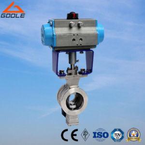 Tipo valvola di regolazione della cialda di ZSHV pneumatica della sfera Valve/V-Port della V-Porta