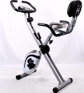 X-Bici magnética vertical plegable del ejercicio, amaestrador casero del ejercicio de la aptitud