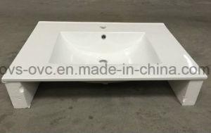 Una pieza de porcelana sanitaria borde delgado de la cuenca del disipador de lavado de cerámica con Cupc