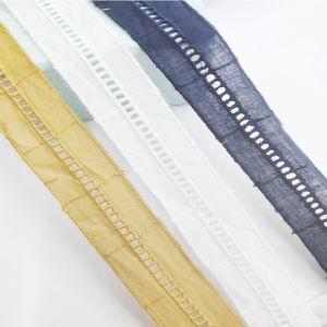 Venda a quente Fashion nova chegada da escada de 2,5cm bordados de algodão rendas