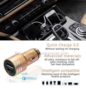 Rettifica sincrona mobile della lega CI del caricatore dell'automobile QC3.0 del USB del caricatore universale dell'automobile di Qualcomm 3.0